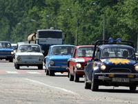 В Киев въехали немцы на ''Запорожцах''