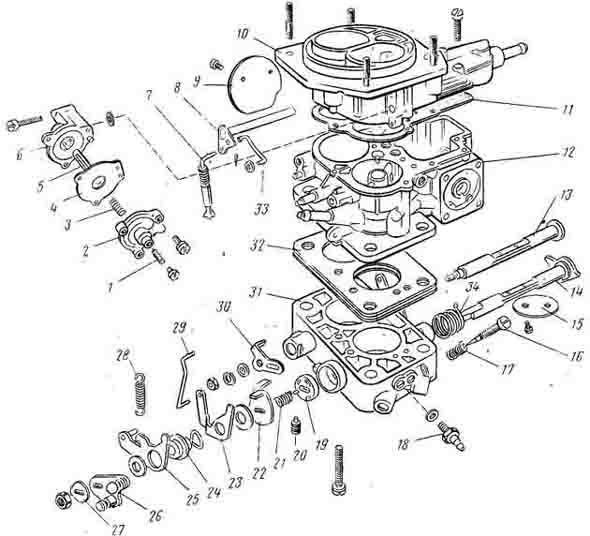 Карбюратор дааз 2107 схема и устройство